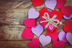 Valentine's Day background with gift box Royalty Free Stock Photo