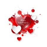 Valentine`s day background vector illustration