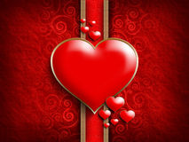 Valentine's Day - background of greeting card Stock Image