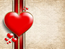 Valentine's Day - background of greeting card template Stock Image