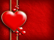 Valentine's Day - background of greeting card template Stock Images