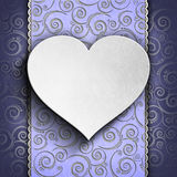 Valentine's Day background - Greeting card template Royalty Free Stock Images