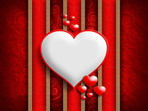 Valentine's Day - background of greeting card template Royalty Free Stock Images