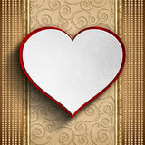 Valentine's Day background - Greeting card template Stock Photography