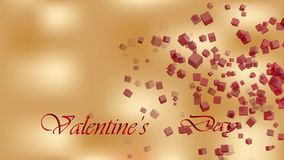 Valentine`s day background. Happy Valentines day invitation on the dinner, background stock video