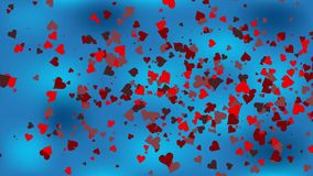 Valentine`s day background. Happy Valentines day invitation on the dinner, background stock footage