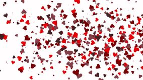 Valentine`s day background. Happy Valentines day invitation on the dinner, background stock video footage