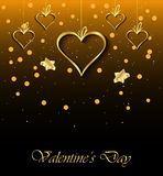 Valentine`s day background. Happy Valentines day invitation on the dinner, background for flayer Stock Photo