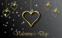 Valentine`s day background. Happy Valentines day invitation on the dinner, background for flayer Stock Images