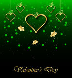 Valentine`s day background. Happy Valentines day invitation on the dinner, background for flayer Stock Photography