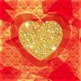 Valentine's day background with heart Royalty Free Stock Photos