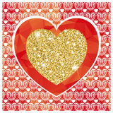 Valentine's day background with heart Stock Image