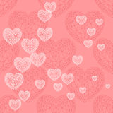 Valentine's day background with heart Stock Images