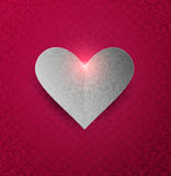 Valentine's day Background With Heart Stock Photography