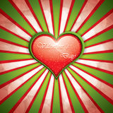 Valentine's Day background with heart frame Royalty Free Stock Images