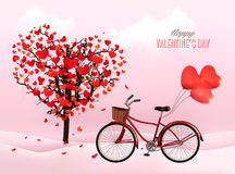 Valentine's Day background with a heart shaped tree Royalty Free Stock Photos