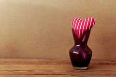 Valentine's day background with heart shapes in vase Stock Photo