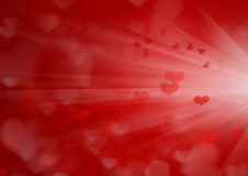 Valentine's day background with hearts Royalty Free Stock Image