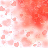 Valentine\'s day background with hearts Royalty Free Stock Image