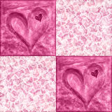 Valentine's Day background with hearts Stock Photography