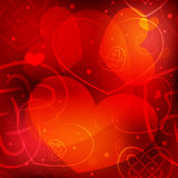 Valentine's day background with hearts.  Stock Photo