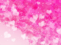 Valentine's day background with hearts Stock Photos