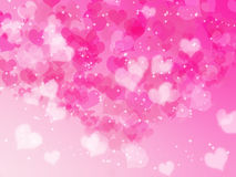 Valentine's day background with hearts Stock Images