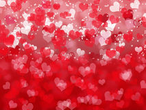 Valentine's day background with hearts Royalty Free Stock Photography