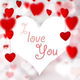 Valentine`s day background with hearts Royalty Free Stock Photography