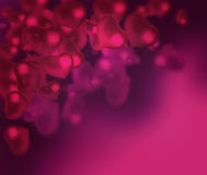 Valentine's day background with hearts abstract background Royalty Free Stock Images