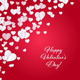 Valentine`s day background with hearts. Abstract background design. Template for prints, textile and decoration, wallpaper Royalty Free Stock Photography