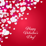 Valentine`s day background with hearts. Abstract background design. Template for prints, textile and decoration, wallpaper Royalty Free Stock Image