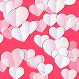 Valentine`s day background with hearts. Abstract background design. Template for prints, textile and decoration, wallpaper Stock Image