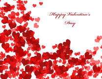 Valentine's day background with hearts. Abstract Valentine's day background with red hearts Royalty Free Stock Photo
