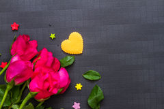 Valentine's day background with hearts on background. Stock Photos