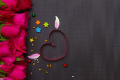 Valentine's day background with hearts on background. Royalty Free Stock Images