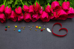 Valentine's day background with hearts on background. Stock Photo