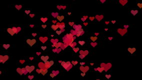 Valentine`s day background with hearts stock video
