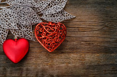 Valentine's day background with hearts Royalty Free Stock Photos