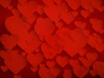 Valentine's day background with hearts. EPS 10 Royalty Free Stock Photography