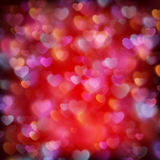 Valentine s day background from hearts. EPS 10. Glittery lights red Valentine s day background from hearts. EPS 10 vector file included royalty free illustration