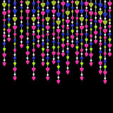 Valentine`s day background with hearts garland Royalty Free Stock Photo