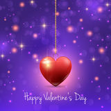 Valentine's Day background with hearts and lights Royalty Free Stock Image