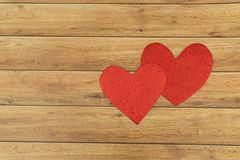 Valentine`s Day background. Hearts of love. Valentines day concept. Flat lay, top view stock photo