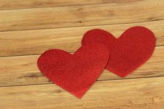 Valentine`s Day background. Hearts of love. Valentines day concept. Flat lay, top view royalty free stock photo