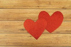 Valentine`s Day background. Hearts of love. Valentines day concept. Flat lay, top view stock photography