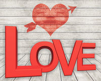 Valentine's day background with hearts. Valentine's day background with red hearts Stock Images