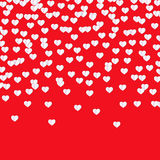 Valentine`s day background with hearts. Valentine`s day red background with white hearts Royalty Free Stock Image