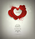 Valentine's Day Background With Hearts Title Inscription Stock Images