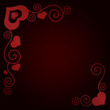 Valentine's day background with hearts Stock Image